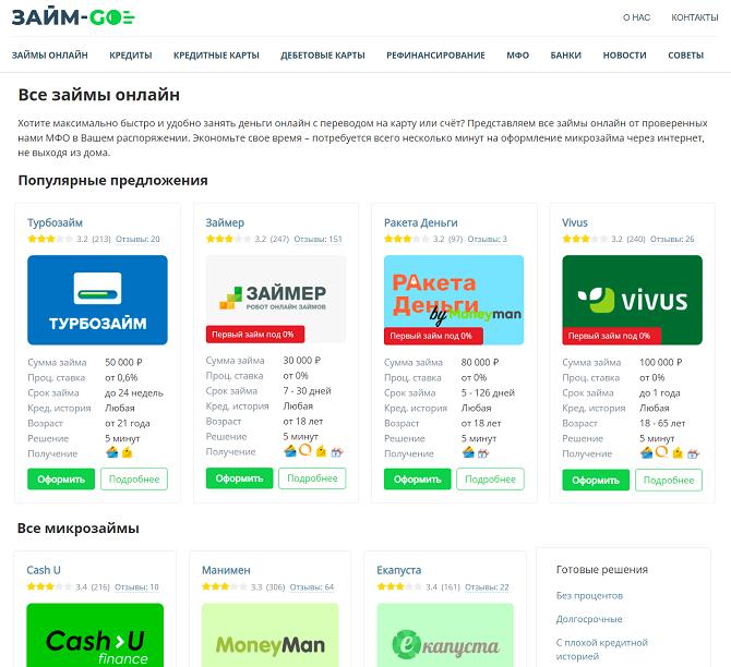 Проверенные займы на zaym-go.ru